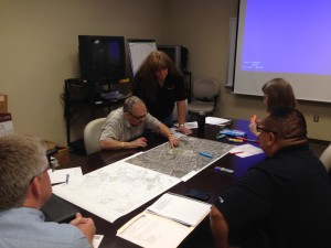 Mapping school sidewalk needs, crossing guard locations and bus pick up